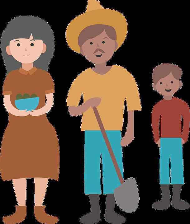 Petani Keluarga Gambar Vektor Gratis Pixabay Png