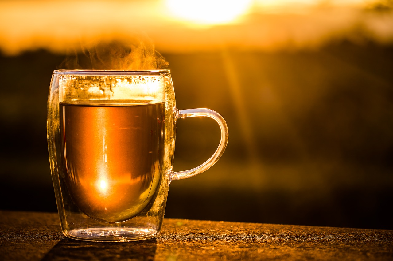 a cup of tea in the morning