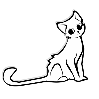 Cat, Kitty, Animal, Cute, Vector