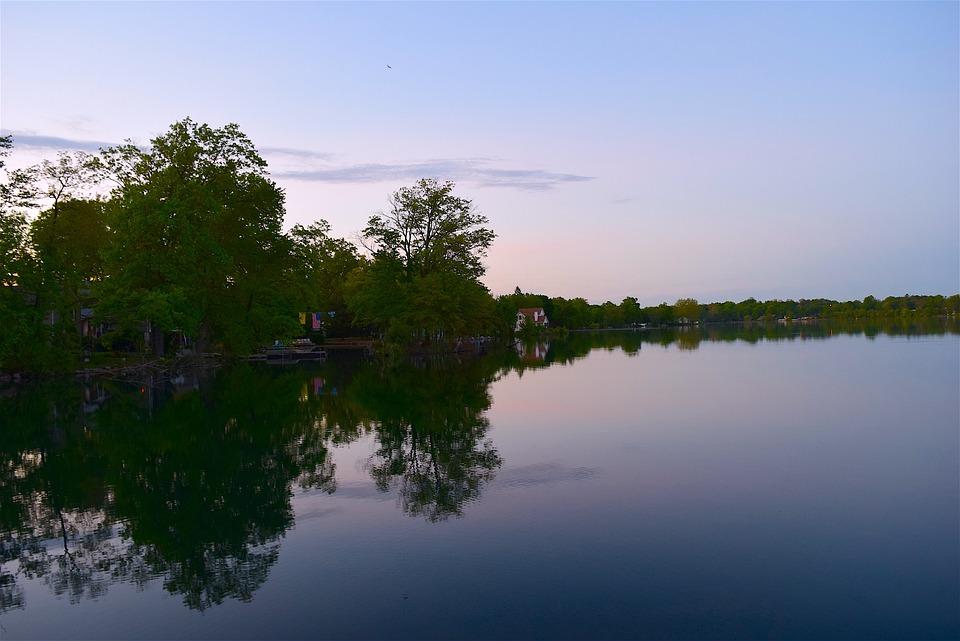 湖, 反思, 树, 自然, 水, 景观, 天空, 蓝色, 户外, 森林, 景区, 风景