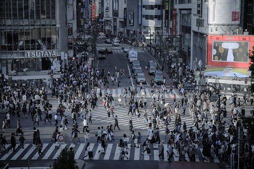 渋谷, 交差点, 街並み, 屋外, 建物, 東京, 渋谷交差点, 日本, 通り