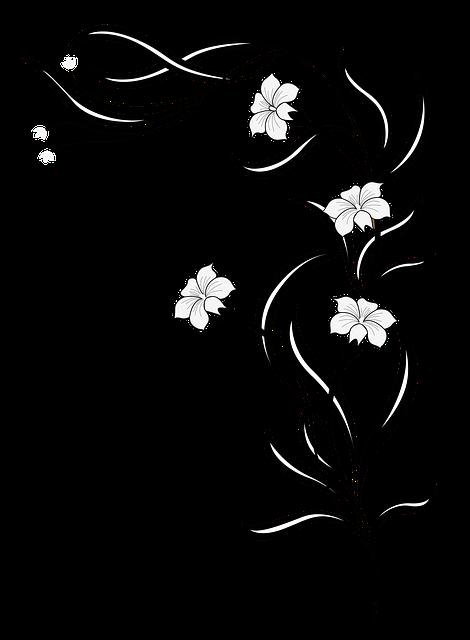 Hojas Decorativas Blanco Y Negro