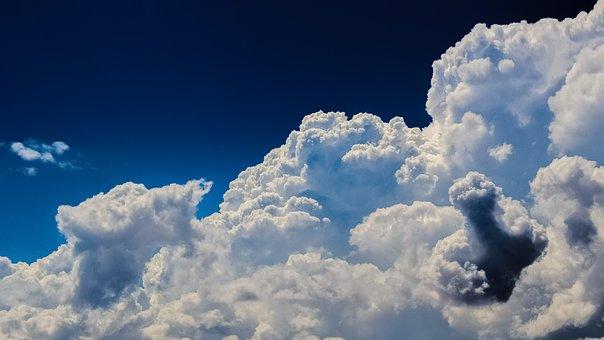 雲, 積雲, 空, 自然, 劇的な, 雲景画, 雰囲気, 天気予報, 明るい