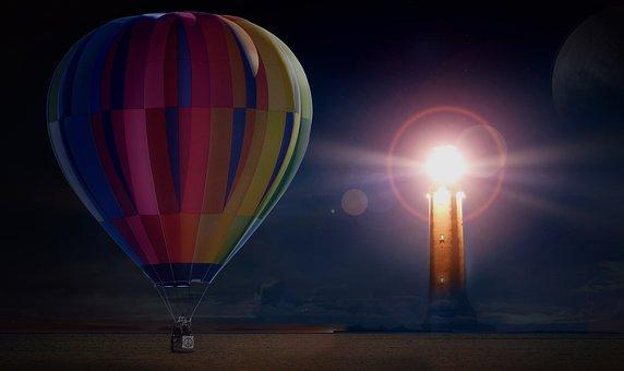 Balloon, Hot Air Balloon Ride, Mission