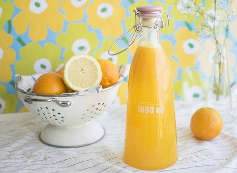 ジュース, 食品, ドリンク, オレンジ, オレンジ ジュース, 健康