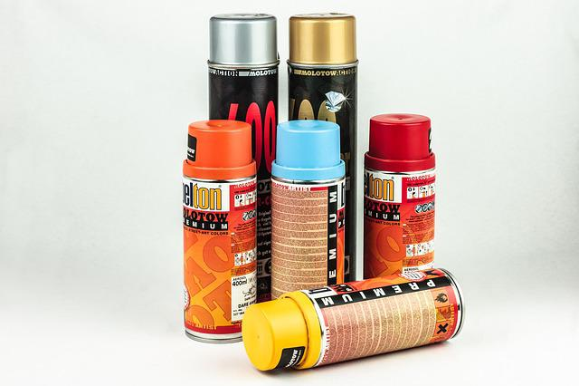 Free Photo Spray Cans Sprayer Colorful