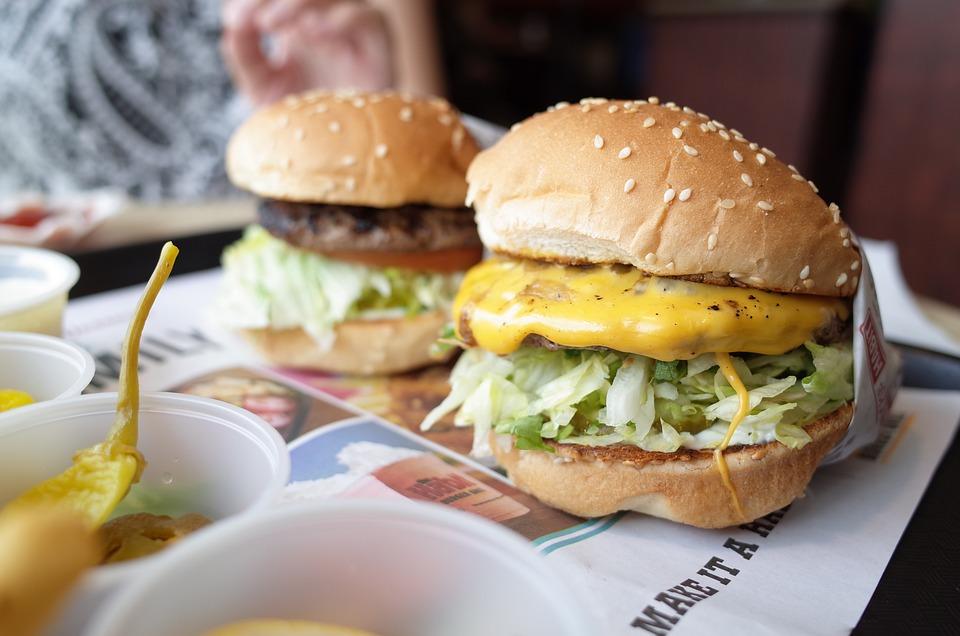 Burger, Hamburger, Abitudine, L'Obesità, Pranzo