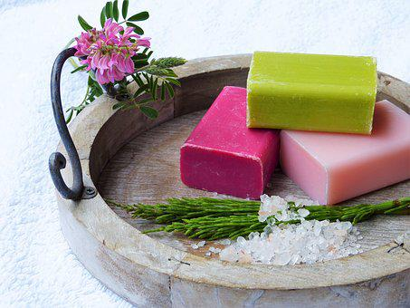natural soaps on dish