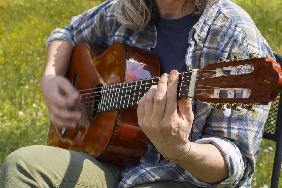 Guitare, Musique, Guitariste, Musicien, Chaînes, Accord