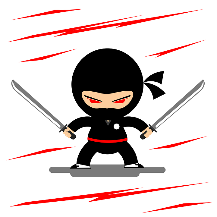 ninja guerrero oriental gráfico vetorial grátis no pixabay