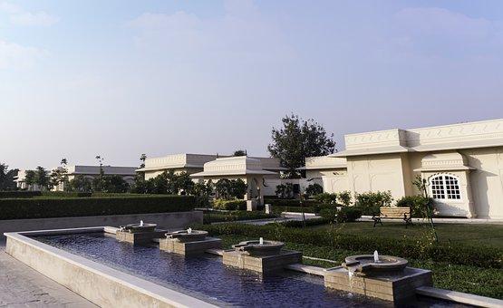 Hotel, cadeiras, recepção, Índia, 5 estrelas