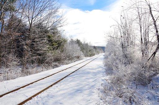 Jalur Kereta Api, Salju, Musim Dingin