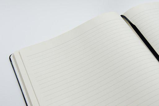 Notebook, Open Book, Open, Paper