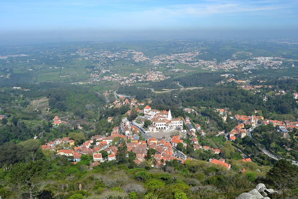 Portugal, Sintra, Panoramic, View, Tourism, Old Town