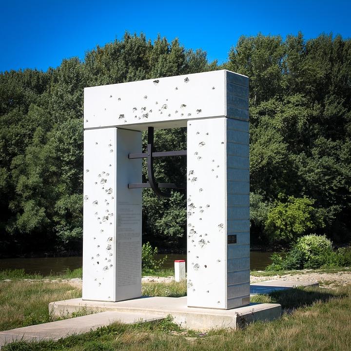 Monument, Memorial, The Iron Curtain, Devín, Slovakia