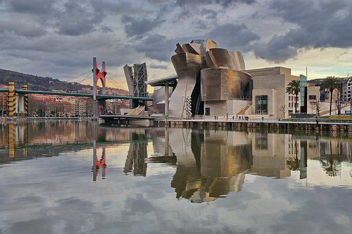 Museo, Guggenheim, Bilbao, Reflejos