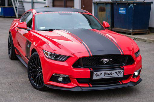 Mustang, Gt, Red, Usa, Car, Auto