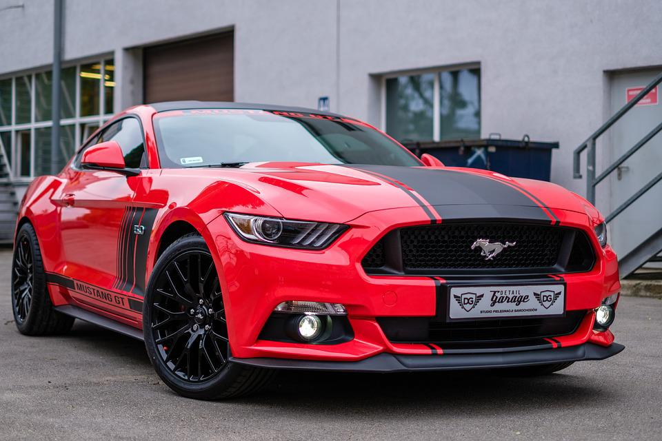 Mustang Gt Red Usa Car Auto Transport Design