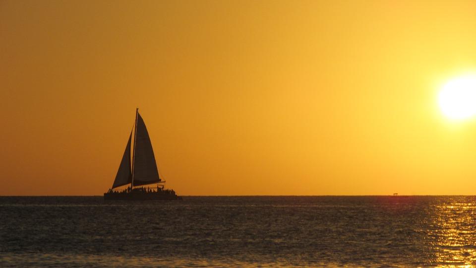 Sunset Caribbean Beach Scene