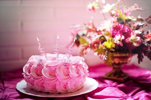 Birthday, Cake, Candles, Bithday Cake