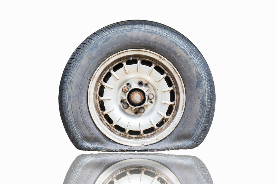 flat tire. Contemporary Flat Flat Tire Vehicle Wear Street Wheel Old In Flat Tire H