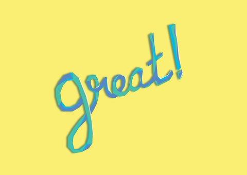 Great, Typo, Design, Word, Tag, Wish