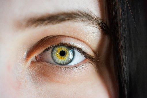 Eye, Iris, Macro, Natural, Girl,Rotational Eyes View