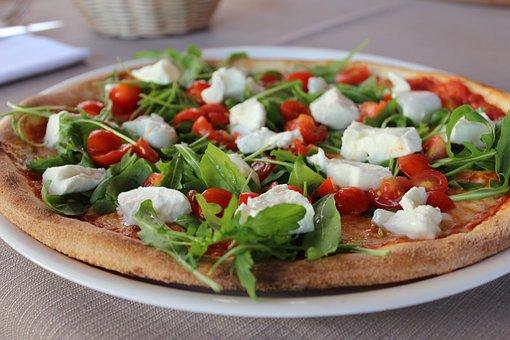 Pizza, Italy, Mozarella, Basil, Dough