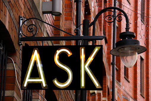 Ask, Sign, Design, Creative, Information