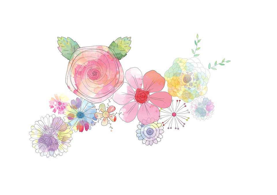 Flower, Abstract, Painting, Floral, Decoration, Design