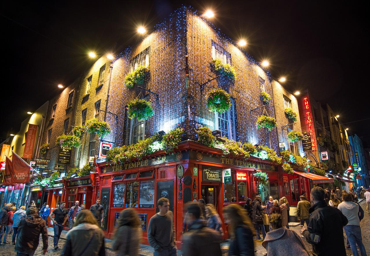 The Temple Bar, Dublin, Ireland - photo credit: Pixabay