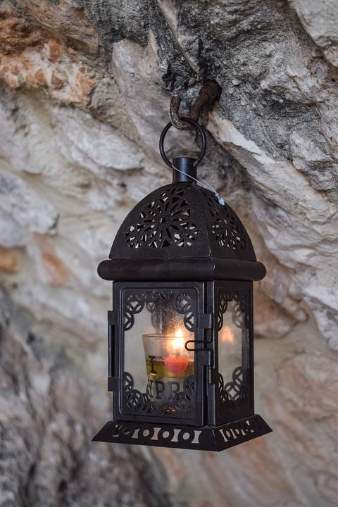 lanterne til stearinlys