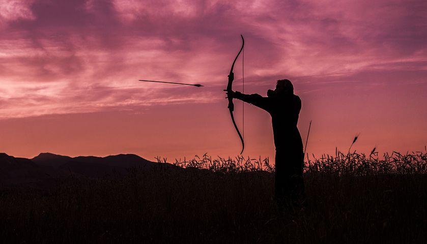 Archer, Archery, Sunset, Arrow, Bow