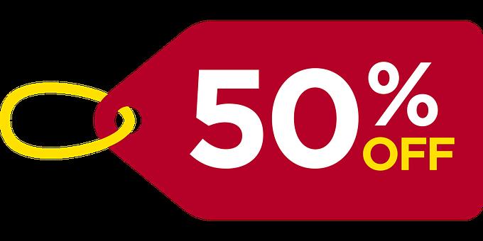 Descuento, 50 Off, Fuera, Venta, Oferta