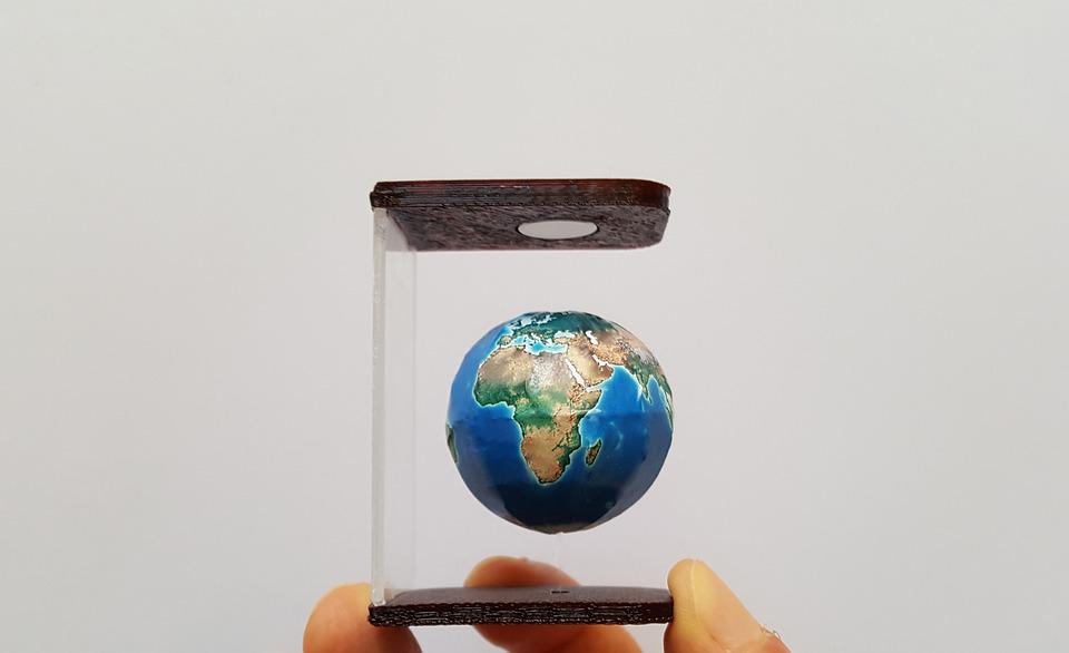 Map Of The World, The Globe, World, Gravity, Floating