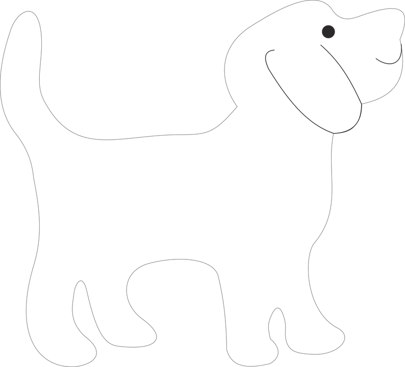 dog template free vector graphic on pixabay