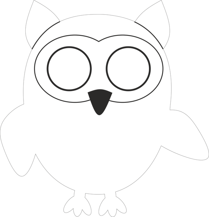 Owl Template Free Vector Graphic On Pixabay