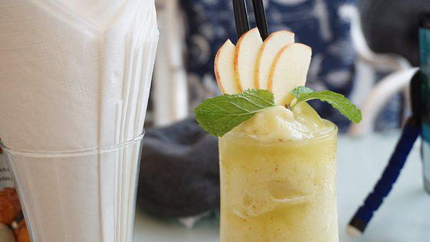 Smooties, アップル, ドリンク, 新鮮な, フルーツ, 健康, 成分
