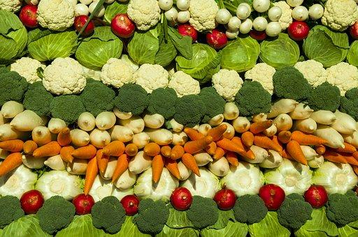 野菜, キャベツ, 人参, ブロッコリー, 大根, カブ