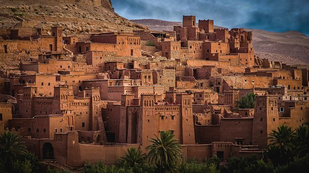 Morocco, City, Historic, Village, Clay