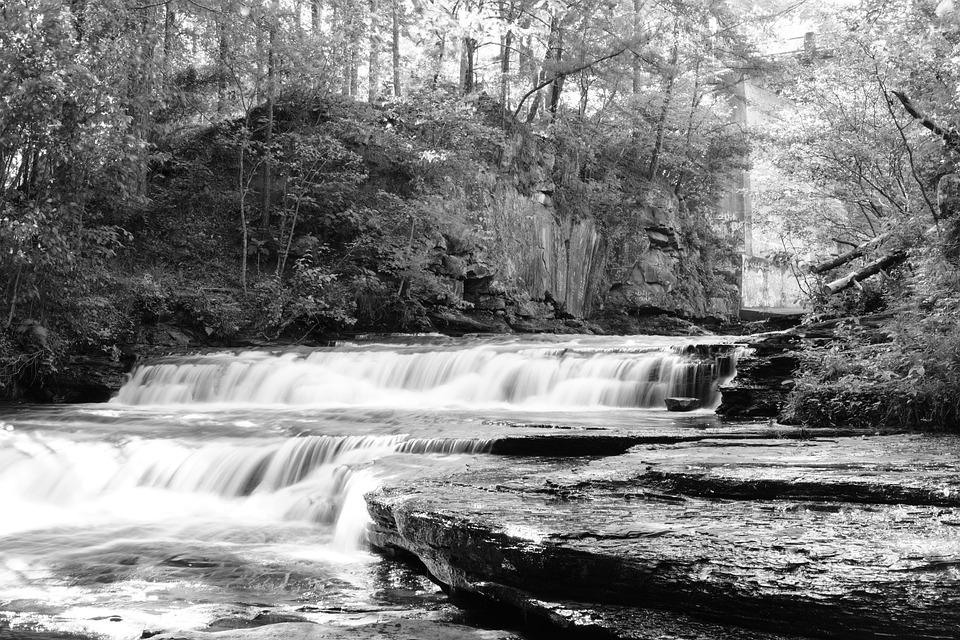 Foto Gratis Sungai Kecil Hitam Putih Alabama Gambar Indah Pemandangan