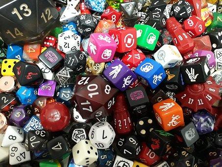 Dice, D20, Game, Role, D12, D8, Rpg, Die