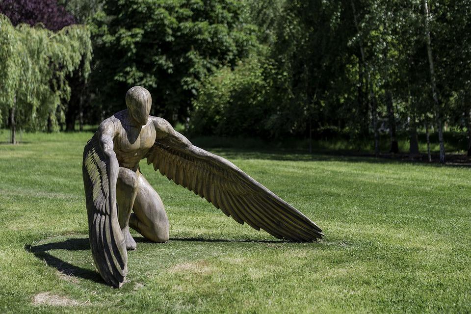 Garten Skulptur Greer Der Engel Kostenloses Foto Auf Pixabay