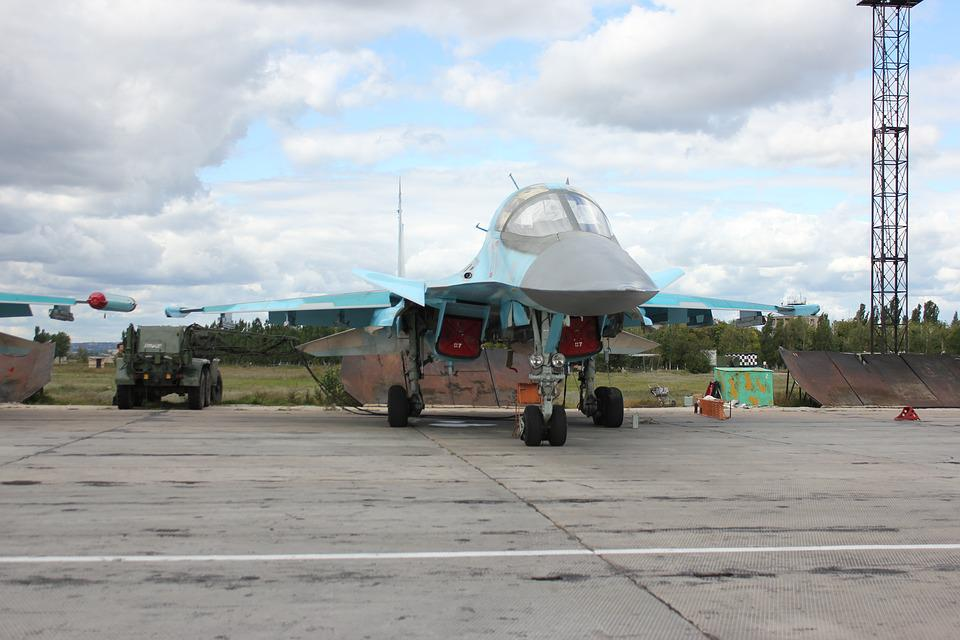 Airfield, Planet, Fly, Fighter-Bomber, Su-34