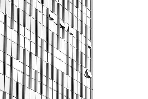 Facade, Building, Abstract, Glass