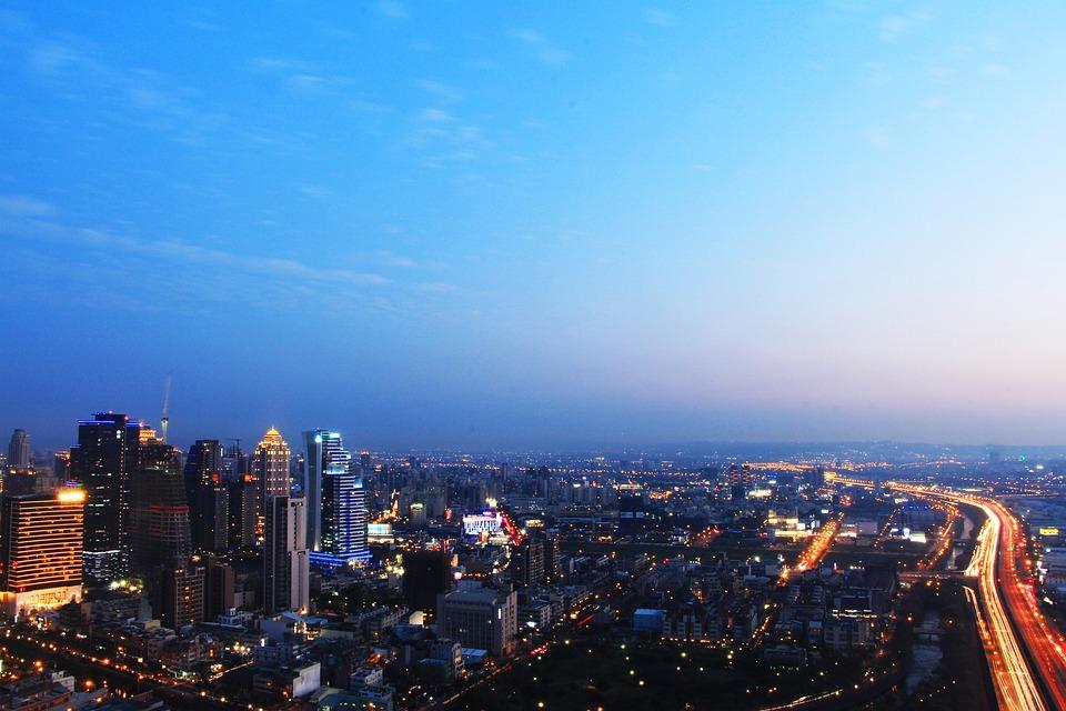 Metropolitan, Kota Taichung, Senja