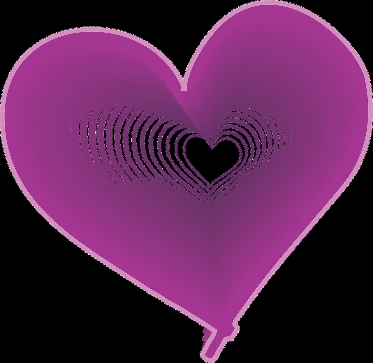 Сердечко фиолетовое картинки