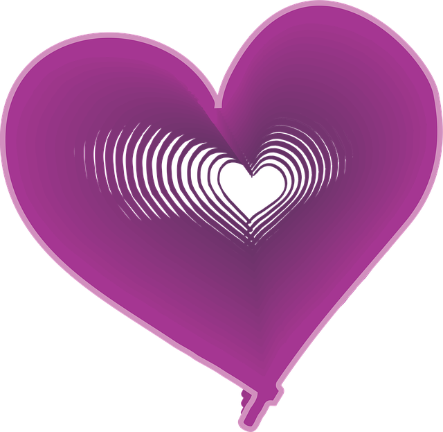 Поздравления, картинки фиолетовое сердце