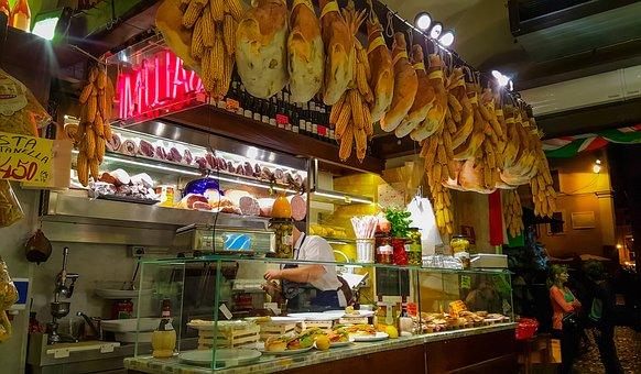 Rome, Delicatessan, Italy, Italian, Food