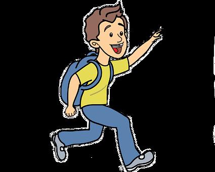 Boy Running, Boy Vector, Young, Running